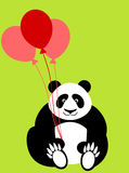 Happy Valentines Day Panda Bear Holding Balloons Stock Photos