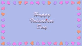 Happy valentines day with heart shape style illustration Royalty Free Stock Photos