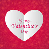 Happy valentines day paper heart Stock Images
