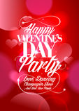 Happy Valentines day party design hearts. Royalty Free Stock Photography