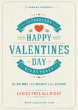 Happy Valentines Day Party Poster Design Template Stock Images