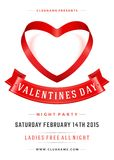 Happy Valentines Day Party Poster Design Template Royalty Free Stock Photo