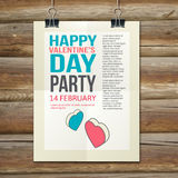 Happy Valentines Day Party Poster Design Template Royalty Free Stock Image