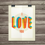 Happy Valentines Day Party Poster Design Template Stock Image