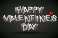 Happy Valentine's Day phrase. Royalty Free Stock Photography