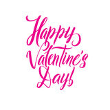 Happy Valentines Day Pink lettering background Greeting Card Royalty Free Stock Image