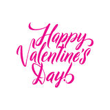 Happy Valentines Day Pink lettering background Greeting Card Royalty Free Stock Photography