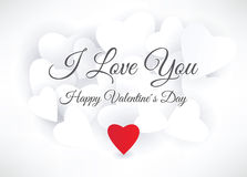 Happy Valentine´s Day (postcard) Royalty Free Stock Images