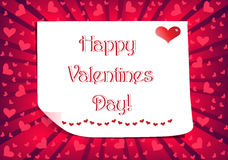 Happy Valentines Day Postcard Royalty Free Stock Image