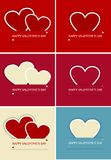 Happy Valentines Day postcards (vector) Royalty Free Stock Image