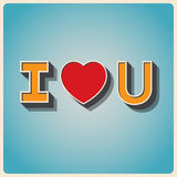 Happy valentines day poster Stock Images