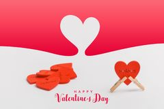 Valentines Day background with hearts . stock photos