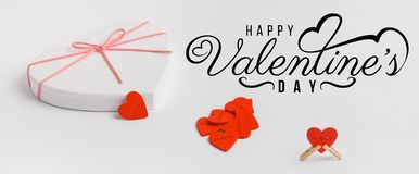 Valentines Day background with hearts . stock photography
