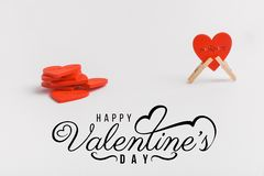 Print cards, banner, poster.  Valentines Day background with hearts. stock photos