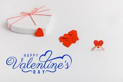 Print cards, banner, poster.  Valentines Day background with hearts. royalty free stock image