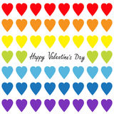 Happy Valentines day. Rainbow heart set. Gay flag color. Seamless Pattern. Wrapping paper, textile template. Lgbt sign symbol. Whi Royalty Free Stock Photography