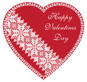 Happy Valentines Day Red Heart. Vctor isolated Happy Valentines Day Red Heart on white background Stock Images