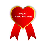Happy Valentines Day red label Royalty Free Stock Photography