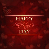 Happy valentines day red retro card Royalty Free Stock Photos