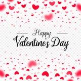 Valentines Day Hearts Confetti Romantic Background Transparent