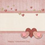 Happy Valentines Day. Retro Background Stock Image