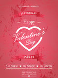 Happy Valentines Day Retro Party flyer invitation Royalty Free Stock Image