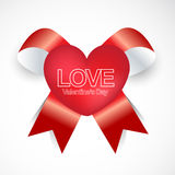 Happy valentines day ribbon style. This is valentine day greating card  illustration use in any size Royalty Free Stock Photography