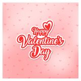 Happy valentines day greeting card vector illustration Royalty Free Stock Photos