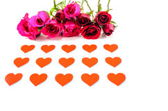 Happy Valentines Day. Roses and hearts for my beloved Valentine Royalty Free Stock Photo