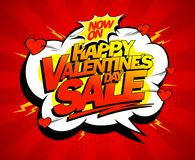 Happy Valentines day sale banner design Royalty Free Stock Images