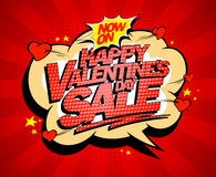Happy Valentines day sale poster concept royalty free illustration