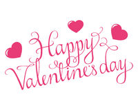 Happy Valentines Day Script Royalty Free Stock Photos