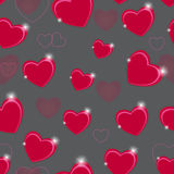 Happy Valentines Day seamless pattern background Royalty Free Stock Photography