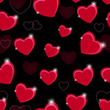 Happy Valentines Day seamless pattern background Stock Photo