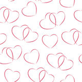 Happy Valentines Day Seamless Pattern Background Stock Photos