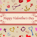 Happy Valentines Day seamless pattern Stock Photography