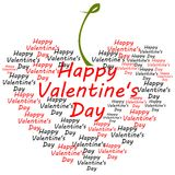 Happy Valentines day shaped hearth text Stock Images