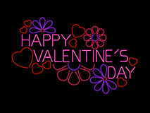 Happy Valentines Day Sign Stock Photography