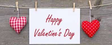 Happy Valentines Day sign Royalty Free Stock Photography
