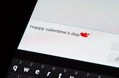 Happy valentines day sms Stock Photos