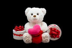 Happy Valentines Day. Soft toy Royalty Free Stock Photos
