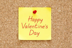Happy Valentines Day Sticky Note Stock Images