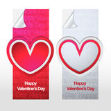 Happy valentines day stylish banner. This is valentine day banner  illustration use in any size Stock Photo
