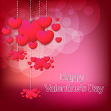 Happy valentines day stylish card. This is a valentine day background  illustration use in any size Stock Photo