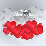 Happy valentines day stylish modern card. This is valentine day background  illustration use any size Stock Photography