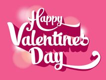 Happy valentines day text background Stock Photography