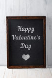 Happy Valentines Day text on chalkboard Royalty Free Stock Photos