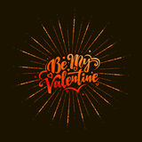 Happy Valentines Day text and lettering. Stock Image