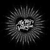 Happy Valentines Day text and lettering. Royalty Free Stock Images
