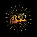 Happy Valentines Day text and lettering. Royalty Free Stock Photos